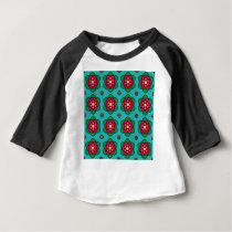 Aqua floral pattern baby T-Shirt