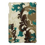 aqua flourish girly Ipad case Cover For The iPad Mini