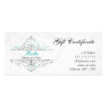 Aqua Flourish Personalized Business Stationery Rack Card