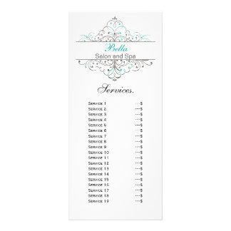 Aqua Flourish Personalized Business Stationery Rack Card