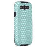 Aqua Flower Argyle Pattern 2 Galaxy S3 Case