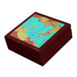 Aqua flower gift box