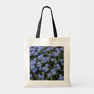 Aqua Forget-Me-Not, (Myosotis Alpestris) flowers Bags