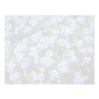 Aqua Forget-Me-Not, (Myosotis Alpestris) flowers Customized Letterhead