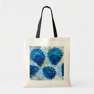Aqua Forget-me-not seeds (Myosotis palustris) flow Canvas Bag