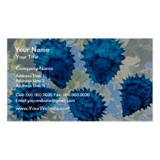 Aqua Forget-me-not seeds (Myosotis palustris) flow Business Card Template