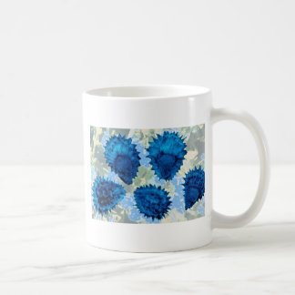 Aqua Forget-me-not seeds (Myosotis palustris) flow Classic White Coffee Mug