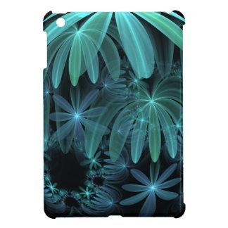 Aqua Fractal Flowers iPad Mini Covers