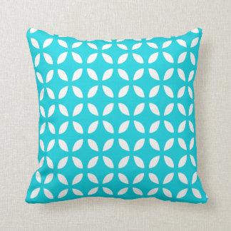 Aqua Geometric Pattern Pillow