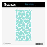 Aqua Giraffe Pattern Decal For iPhone 4