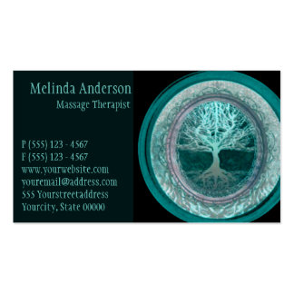 Aqua Glow Tree of Life Pack Of Standard Business Cards