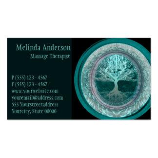Aqua Glow Tree of Life Business Card