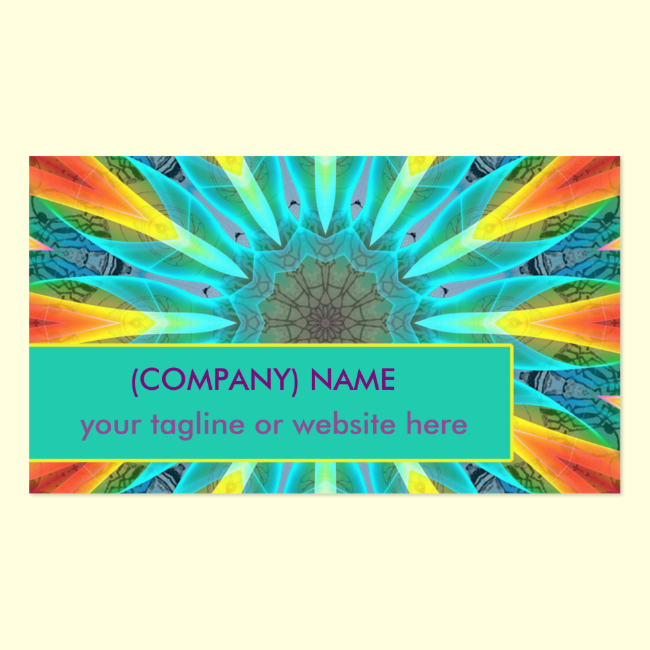 Aqua Gold Joy to the World Abstract Mandala Double-Sided Standard Business Cards (Pack Of 100)