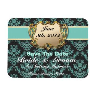 Aqua & Gold - Save The Date Flex Magnet