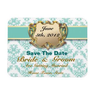 Aqua & Gold - Save The Date Flex Magnet 2