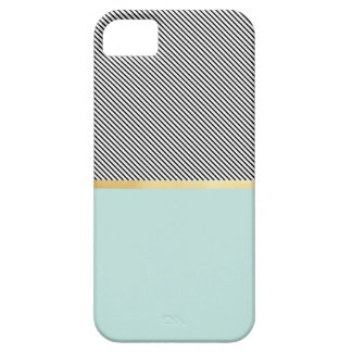 Aqua, Gold & Stripes iPhone SE/5/5s Case