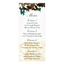 aqua gold Wedding menu