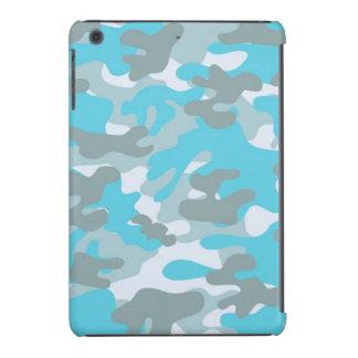 Aqua Gray White Camo Design iPad Mini Case