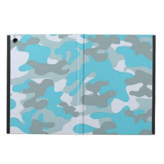 Aqua Gray White Camo Design iPad Air Cases