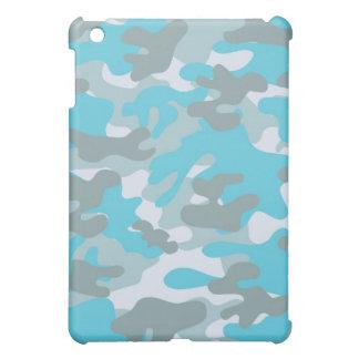 Aqua Gray White Camo Design Cover For The iPad Mini