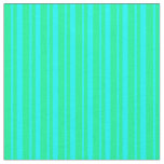 [ Thumbnail: Aqua & Green Lines Fabric ]