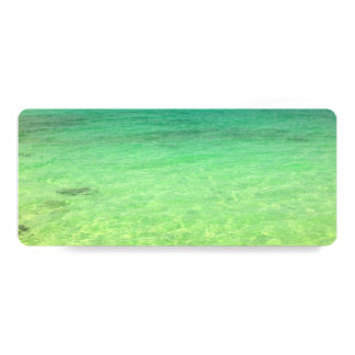 Aqua Green Ocean   Turks and Caicos Photo Card