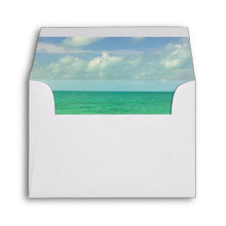 Aqua Green Ocean | Turks and Caicos Photo Envelopes
