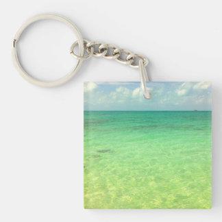 Aqua Green Ocean | Turks and Caicos Photo Keychain