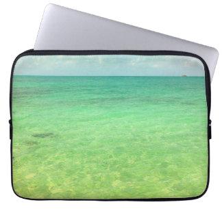Aqua Green Ocean | Turks and Caicos Photo Laptop Computer Sleeve