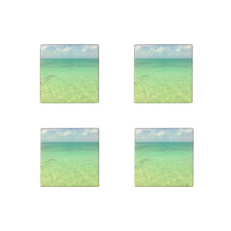 Aqua Green Ocean   Turks and Caicos Photo Stone Magnet