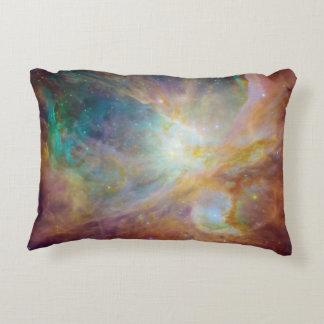 Aqua Green Orion Nebula Decorative Pillow