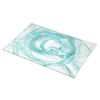 """Aqua/Green Placemat --- """"Fractals"""" Abstract Art"""