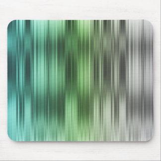 Aqua Green Silver Stripes Mouse Pad