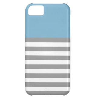 Aqua & Grey Strips 5 5s Cases