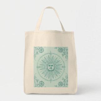 Aqua Grocery Bag