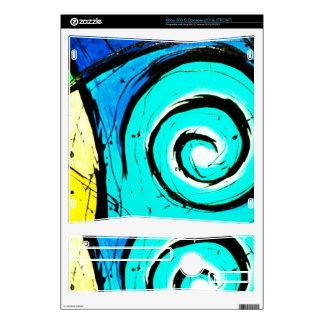 Aqua Groovy Modern Swirls Abstract Xbox 360 S Decal