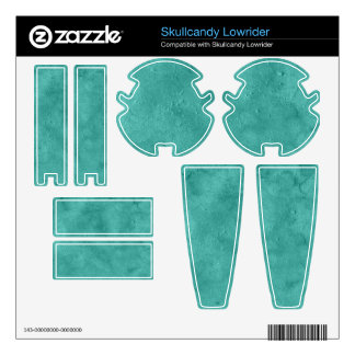 Aqua Grunge Duo-tone Texture Background Decals For Skullcandy