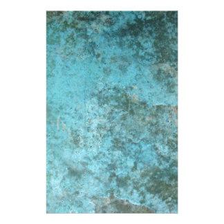 Aqua Grunge Texture Stationery