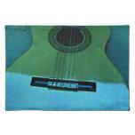 Aqua Guitar Place Mats
