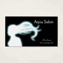 Aqua Hair Salon businesscards Business Card