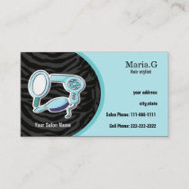 Aqua Hair Salon cards with appointment on back