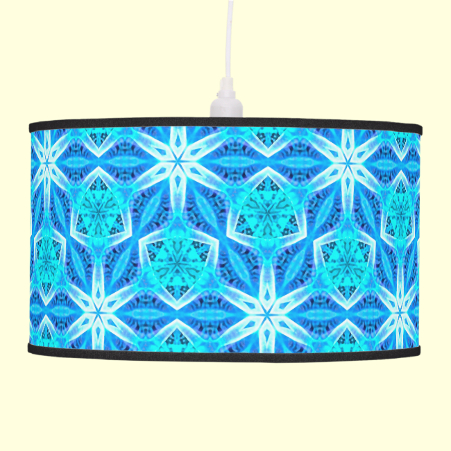 Aqua Hawaiian Stars under a Bright Night Sky Dance Pendant Lamps