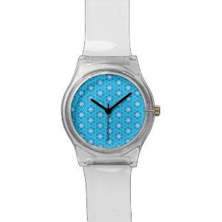 Aqua Hawaiian Stars under a Bright Night Sky Dance Wrist Watch