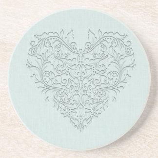 Aqua HeartyChic Sandstone Coaster