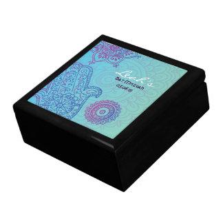 Aqua HEMSA HAND Bat Mitzvah Memory Money Box