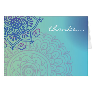 Aqua HEMSA HAND of GOD Baby Naming Thank You Card