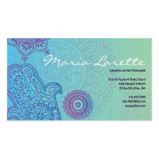 Aqua HEMSA HAND of GOD Business Card