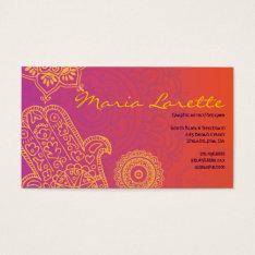 Aqua Hemsa Hand Of God Business Card at Zazzle