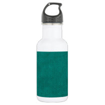 Aqua Herringbone Pattern Stainless Steel Water Bottle