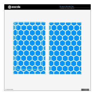 Aqua Hexagon 2 Kindle Fire Skin